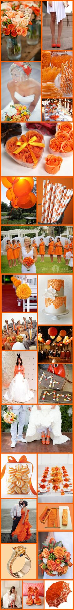 Wednesday Wedding Inspiration: Citric Orange! Love the Candy Idea for the tables
