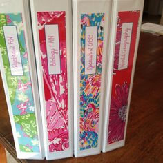 Lilly Pulitzer Binder Covers DIY