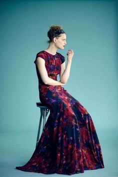 Erdem Resort 2012 Mixes 70s Fashion with Royal Textiles #velvet #fashion trendhunter.com