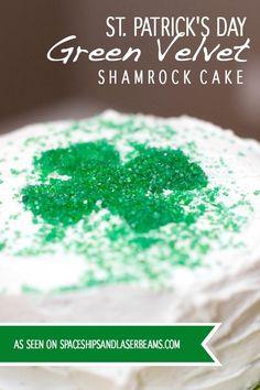 Green Velvet Cake for St. Patrick's Day