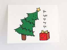 Cute Christmas Card // Punny Holiday Card // Whimsical