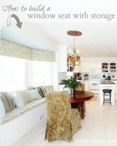 How to build a window seat with storage - At The Picket Fence