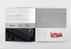 IT Company Catalog by Yiğit Arslan, via Behance