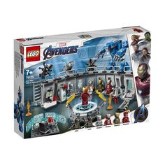 LEGO Marvel Avengers Iron Man Hall of Armor 76125 524 pcs - in stock Films Marvel, Marvel Avengers Movies, Marvel Cinematic, Iron Men, Lego Jurassic World, Lego Marvel's Avengers, Captain Marvel, Captain America, Baby Marvel