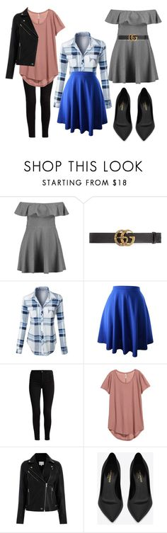 """""""Untitled #40"""" by bettina-agoston on Polyvore featuring Boohoo, Gucci, LE3NO and Yves Saint Laurent"""