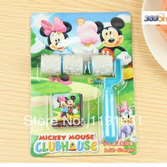Free shipping 10set/lot  100% Good quality Decoration DIY stamp set with inkpad  Creative Mickey & Minnie plastic stamp $22.98