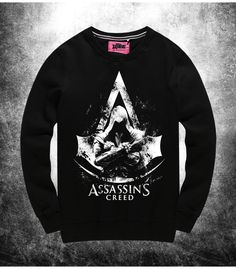 177029f7 This is a Assassin's Creed tshirt, formed of quality material, this Assassin's  Creed Sweatshirt Men black Sweat Shirts wears terribly comfy.