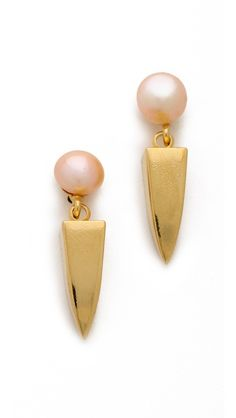 Lizzie Fortunato Pearl Dagger Earrings  // 145