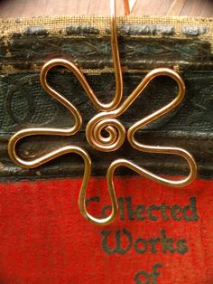 Wildflower Copper Bookmark Metal Bookmark by thatSandygirl on Etsy, $10.00