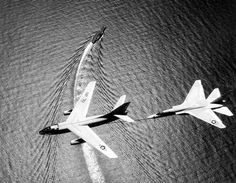 South China Sea, 1965. A Skywarrior refueling an A5 Vigilante. Two BIG Carrier Aircraft!