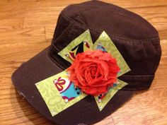 Cross Shabby Chic Cadet Hat by DnAubi on Etsy, $26.00