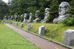 At the Great Stone Rock Sculpture Park in Korea (큰바위얼굴조각공원), you get over 1,000 stone sculptures of people representing 185 countries and weighing an average of 30 tons each. - See more at: http://www.travelwireasia.com/2012/11/destination-great-stone-face-sculpture-park-eumseong-gun-chungcheongbuk-do/#sthash.aG1SqGdW.dpuf