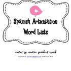Spanish Articulation word lists-for my fellow bilingual SLPs Articulation Therapy, Articulation Activities, Speech Activities, Language Activities, Speech Language Pathology, Speech And Language, How To Speak Spanish, Therapy Ideas, Speech Therapy