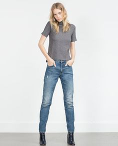 HIGH-RISE TAPERED JEANS-High Waisted-Jeans-WOMAN | ZARA United States