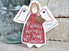Business Manager Thank You Gift Salt Dough Ornament