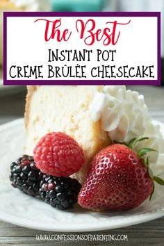 If you haven't tried Instant Pot Creme Brulee Cheesecake you are missing out on the tastiest treat! Check out just how easy it is to make this amazing dessert! Fun Desserts, Delicious Desserts, Yummy Food, Tasty, Dessert Ideas, Creme Brulee Cheesecake, Cold Cake, Graham Cracker Crumbs, Savoury Cake