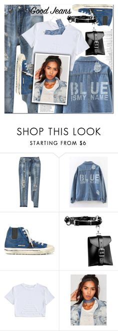 """All denim"" by fshionme ❤ liked on Polyvore featuring Golden Goose, Zana Bayne, vintage and alldenim"