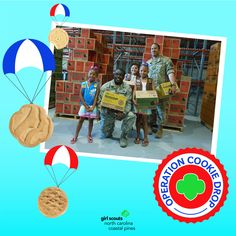 We are so excited to bring the sweet taste of home to military men and women this year through Operation Cookie Drop! Girl Scouts will be collecting donations of boxes of Girl Scout cookies throughout the program before the cookie drops in the spring. Learn more.