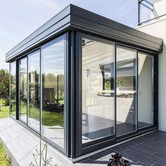 Bungalow Extensions, Garden Room Extensions, House Extensions, Extension Veranda, House Extension Design, Home Room Design, House Design, Modern Bungalow Exterior, Folding Patio Doors