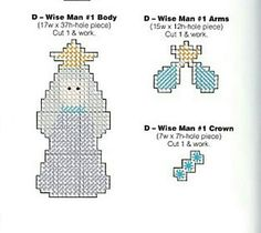 THREE WISE MEN ORNAMENTS 2/3