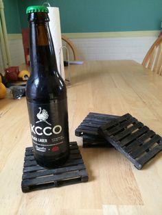 Pallet Coasters I made. KCCO!!