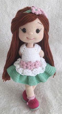 Free Amigurumi Crochet Doll Pattern and Design ideas – Page 8 of 37 – Daily Crochet! Free Amigurumi Crochet Doll Pattern and Design ideas – Page 8 of 37 – Daily Crochet!Free cute amigurumi patterns 25 amazing crochet ideas for beginners to ma Doll Amigurumi Free Pattern, Crochet Dolls Free Patterns, Amigurumi Doll, Knitting Patterns, Cute Crochet, Crochet Toys, Crochet Doll Clothes, Knit Crochet, Knitting Projects