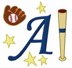 Baseball Alphabet - 4x4 | What's New | Machine Embroidery Designs | SWAKembroidery.com Fun Stitch