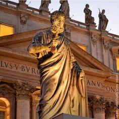 Statue of St. Peter, St. Peter's square, #Vatican. #Catholic #Saints #nofilter #art #beauty