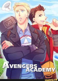 stony, avengersacademy