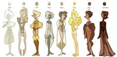 Steven Universe - Shades of Brown Pearls Steven Universe Oc, Steven Universe Pictures, Universe Art, Yellow Pearl, Drawing Reference, Character Design, Character Ideas, Character Reference, Character Inspiration