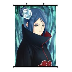 Onecos NARUTO Konan Logo Poster Fabric Scroll Painting Wall Picture 1PCS * You can find more details by visiting the image link.