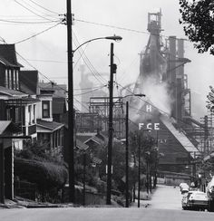 Bethlehem Steel, Johnstown Works, Pennsylvania photo by David Plowden, 1975