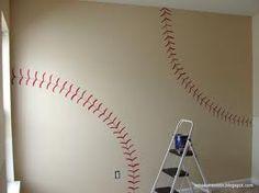 Baseball seams for a boy's room