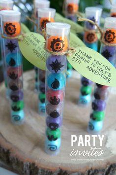 Skylanders Party Favors Element Stickers. $3.00, via Etsy.