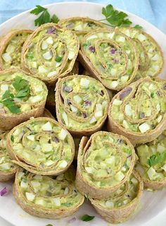 HEALTHY Avocado Egg Salad Roll Ups is simple recipe with only a few ingredients. This is perfect crowd pleaser appetizers for summer picnics and parties.