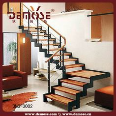 Resultado de imagen para escaleras hierro y madera