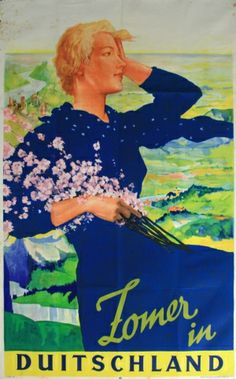 Zomer in Duitschland (Summer in Germany), 1930s - original vintage poster by Ehrenberger listed on AntikBar.co.uk