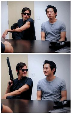 Norman Reedus & Steven Yeun, The Walking Dead