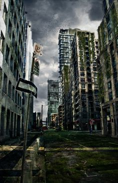 The cities of Alberta Territory might look like this. #MeechanChronicles | post apocalyptic city | zombie attack | ruined abandoned city | #postApocalypse