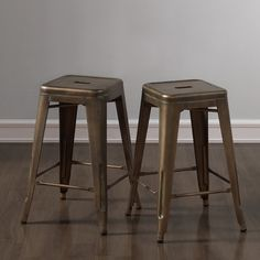 Tabouret 24-inch Weathered Broze Counter Stool (Set of 2) - Overstock™ Shopping - Great Deals on Bar Stools