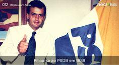 Em 1989 o Aécio se filiou ao PSDB. Hoje ele é presidente do partido. #AecioNeves #ParaMudarOBrasil http://120diascomaecio.tumblr.com/