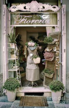 So very easy to imitate ideas here for the small space retailer! The Florist Shop Photograph - The Florist Shop Fine Art Print