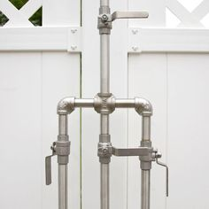 Check out the Deluxe Outdoor Shower Mixer with Foot Shower in Faucets & Fixtures, Outdoor Showers & Tubs from Signature Hardware for Outdoor Baths, Outdoor Bathrooms, Outdoor Rooms, Outdoor Living, Outdoor Kitchens, Shower Plumbing, Shower Valve, Shower Faucet, Bathtub Shower
