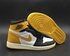 low priced ddace 52725 Real Air Jordan 1 Retro High OG  Yellow Ochre  555088-109 - Mysecretshoes