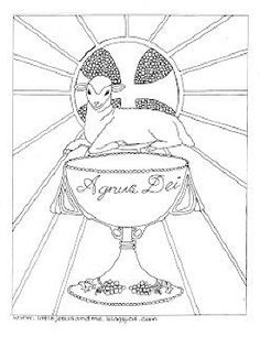1000 images about coloring pages on pinterest coloring for Lamb of god coloring page