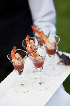 These mini shrimp cocktails look so good! Photo by Patricia Lyons on Easton Events