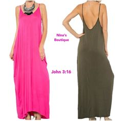 Harem style maxi FUCHSIA only Harem style side pockets maxi - Price is firm.      S (2-6) M (8-12) L (14) Dresses Maxi