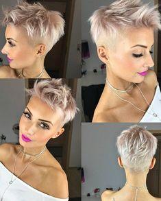 Short Hairstyle 2018 Short Cuts in 2019 Very short hair, Short short hair styles for girls 2018 - Hair Style Girl Short Pixie Haircuts, Pixie Hairstyles, Short Hairstyles For Women, Hairstyles 2018, Blonde Haircuts, Latest Haircuts, Ladies Hairstyles, Haircut Short, Hairstyle Short