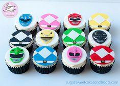 Mighty Morphin Power Ranger Cupcakes