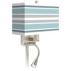 Multi Color Stripes Giclee LED Reading Light Plug-In Sconce - #N8671-X4248 | Lamps Plus
